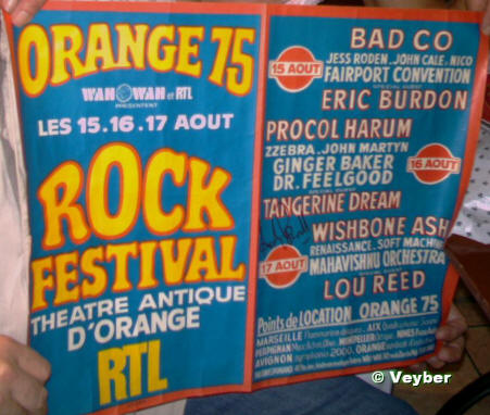 Orange75 - l'affiche avec l'autographe de Andy Powell